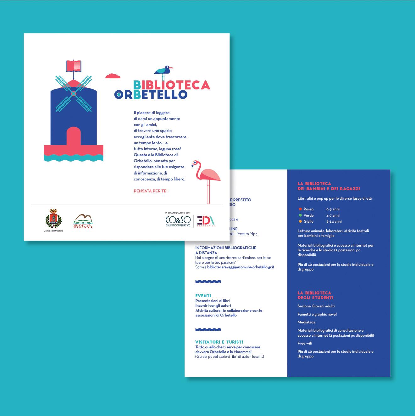 immagine coordinata - biblioteca Pietro Raveggi - volantino