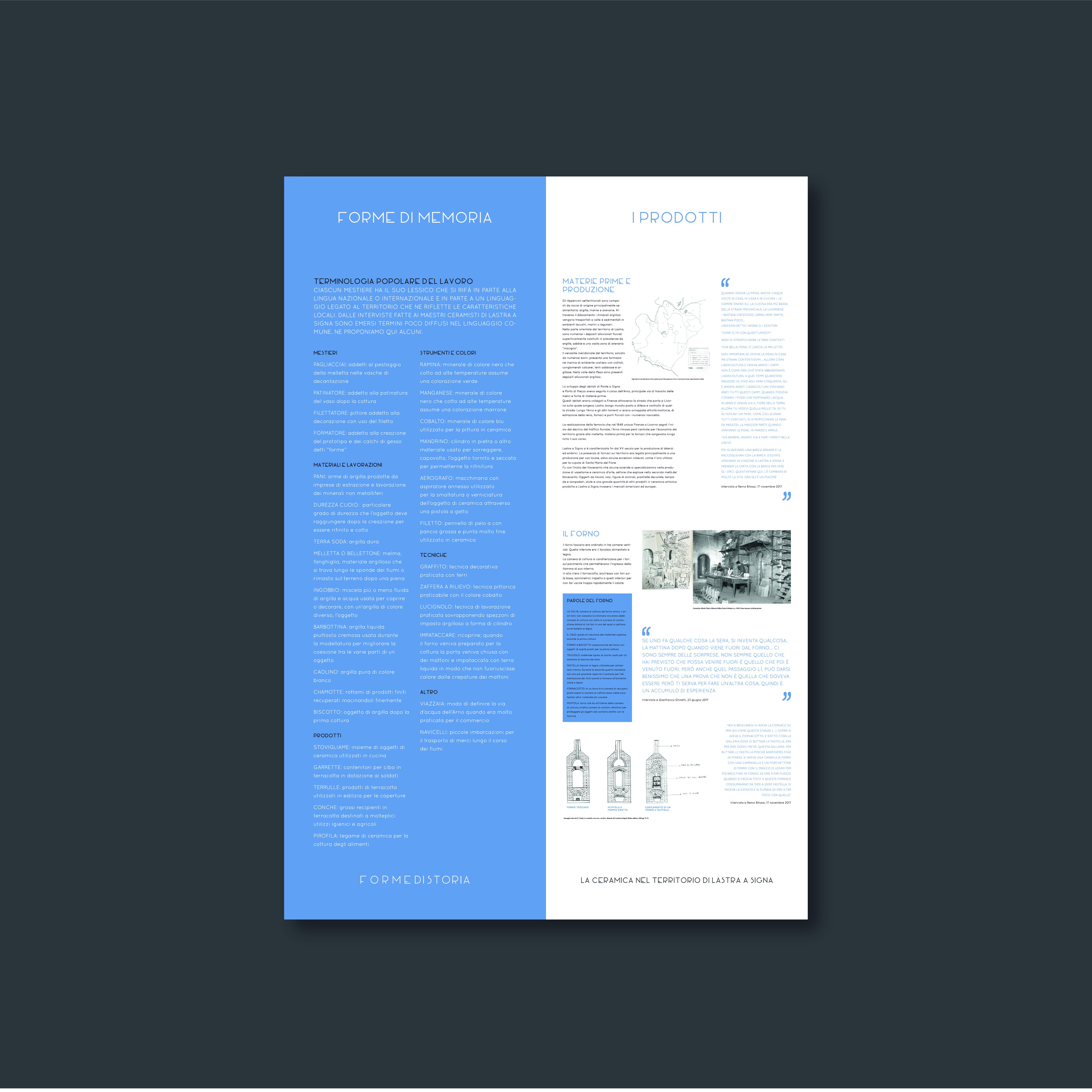 progetto grafico - forme di storia - depliant