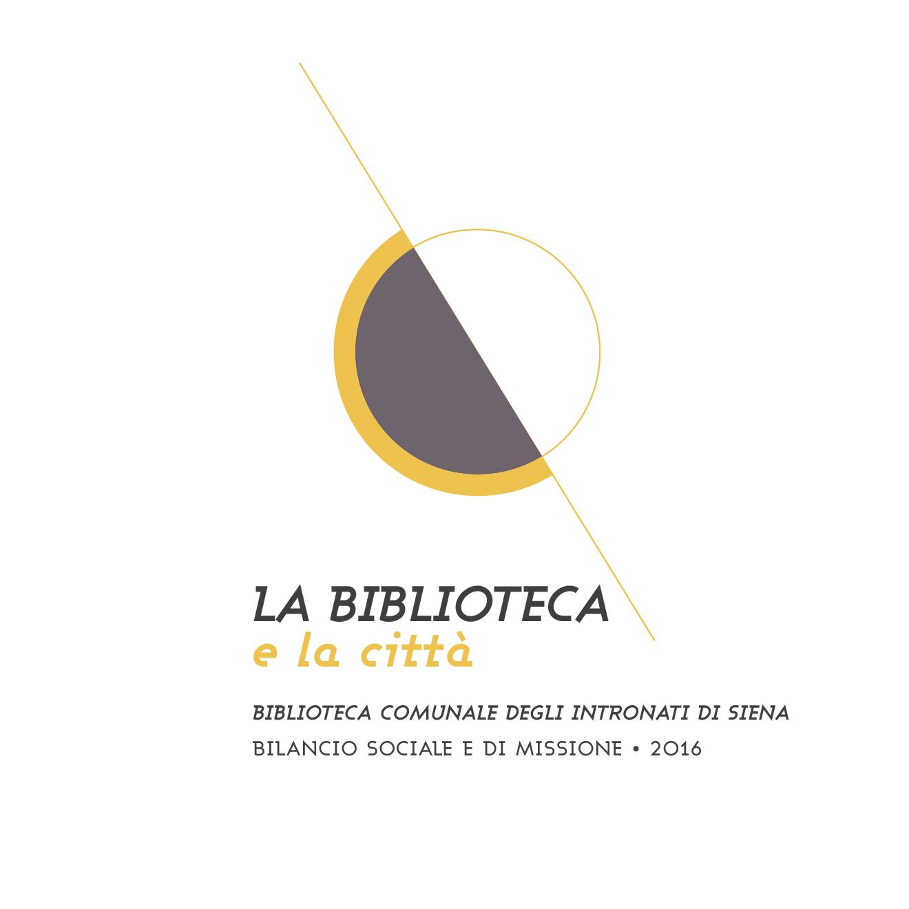 progetto grafico - la biblioteca e la città - logo