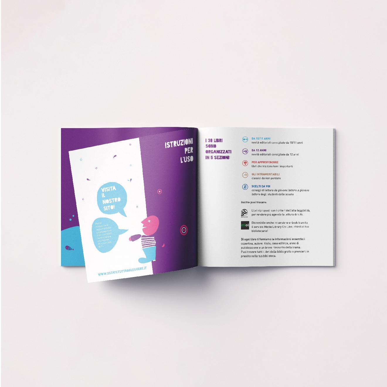 progetto grafico - estate tutta da leggere - brochure