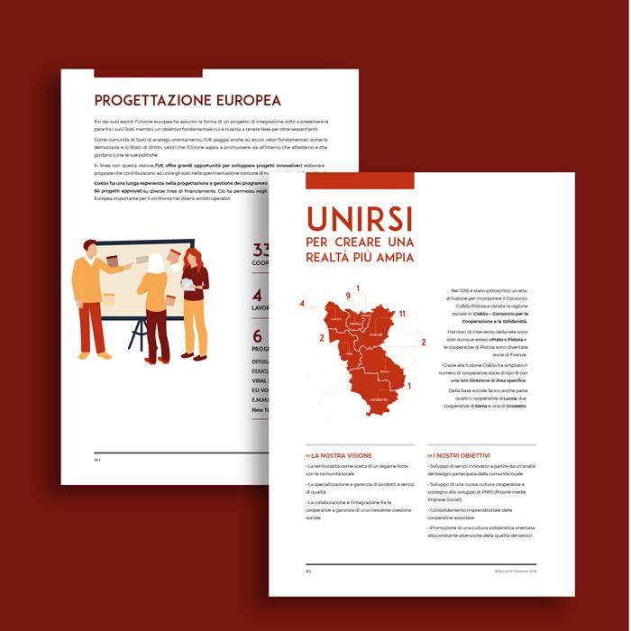 progetto grafico - bilancio sociale - interno