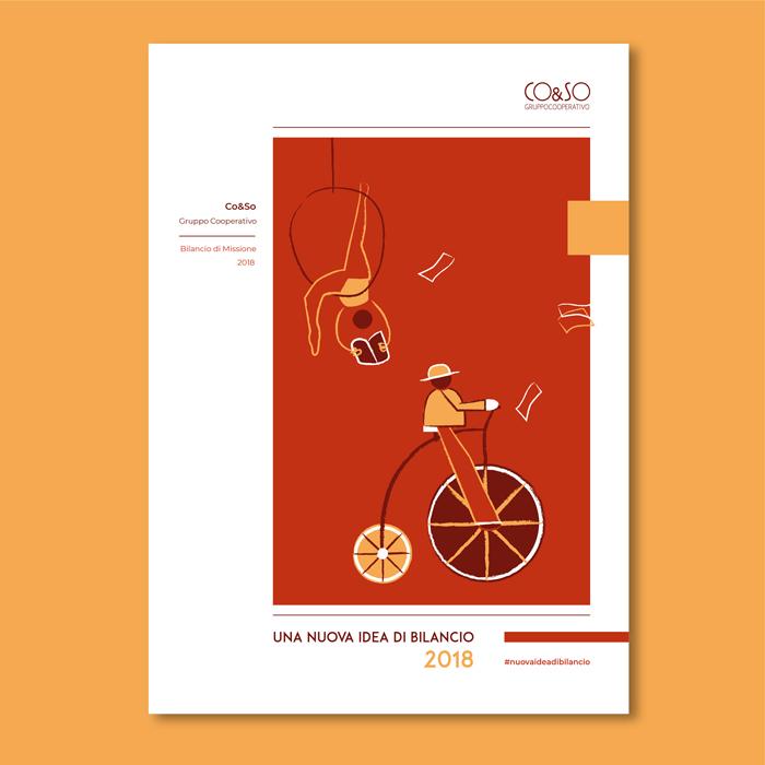 progetto grafico - bilancio sociale - copertina