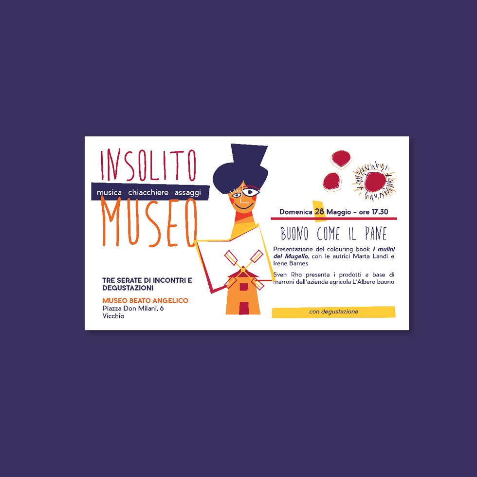 progetto grafico - insolito museo - volantino